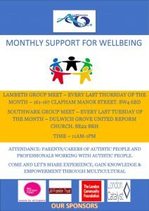 Autism Voice starts Monthly Support for Wellbeing